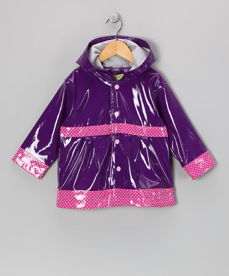 Purple Olivia Raincoat - Toddler & Kids