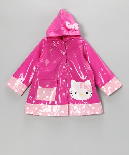 Pink Hello Kitty Cutie Raincoat - Toddler