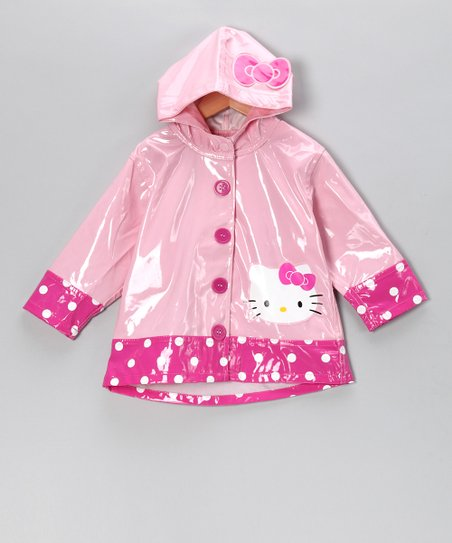 Pink Hello Kitty City Raincoat - Toddler