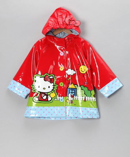 Red Hello Kitty Scenic Raincoat - Toddler