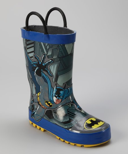 Blue & Gray Batman Lunge Rain Boot