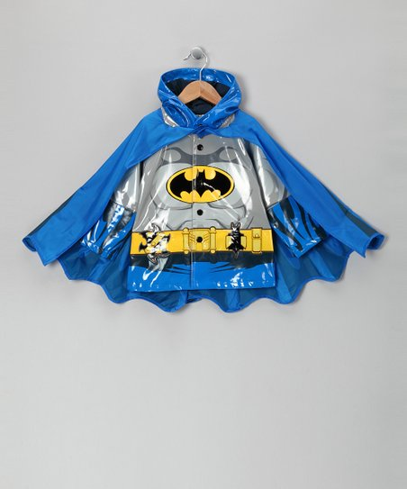 Blue Batman Caped Raincoat - Toddler
