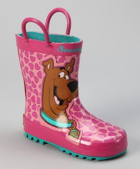 Pink Scooby-Doo Love Rain Boot