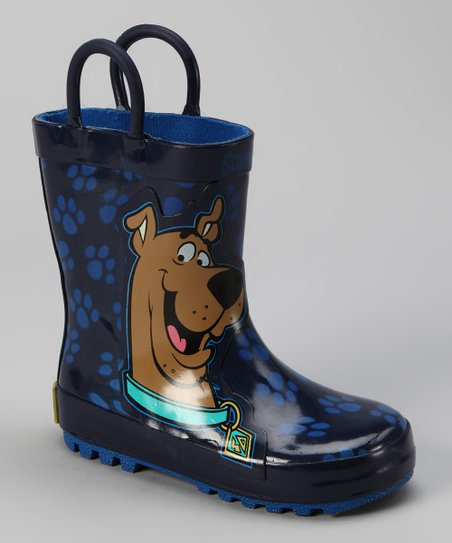 Navy Scooby-Doo Paws Rain Boot