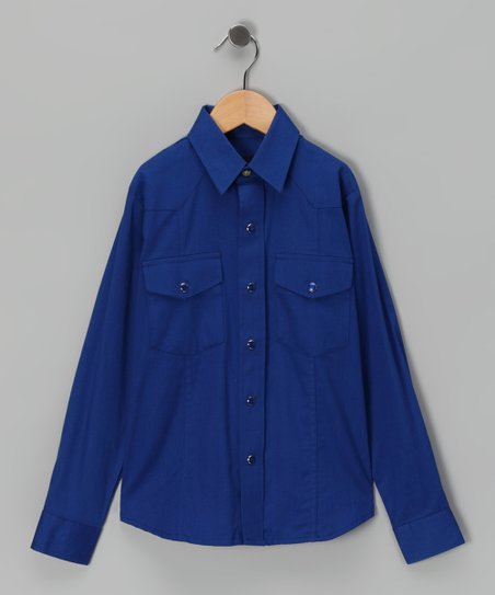 Royal Blue Button-Up - Boys