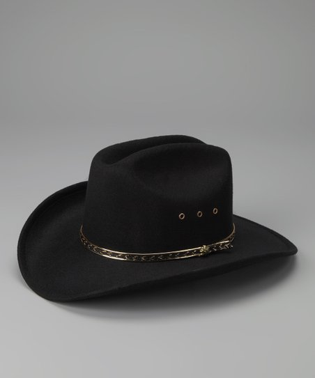 Black Cattleman Cowboy Hat - Kids