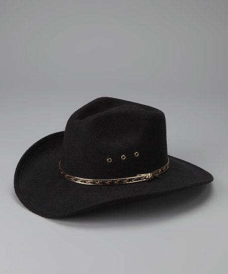 Black Pinch-Front Cowboy Hat
