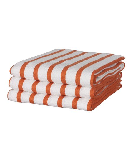 Whim Pumpkin Stripe Casserole Dish Towel - Set of Three
