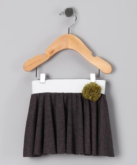 Whimsical Pudding Charcoal Twirl Skirt