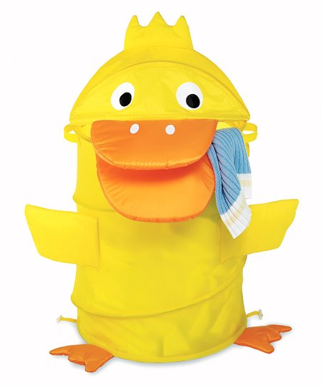 Yellow Duck Collapsible Laundry Hamper