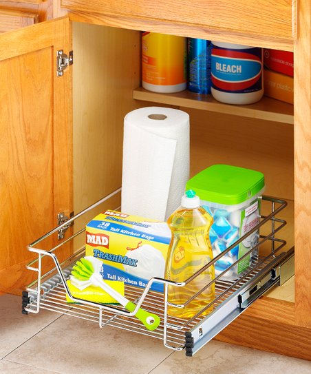 Chrome 14'' Sliding Cabinet Organizer