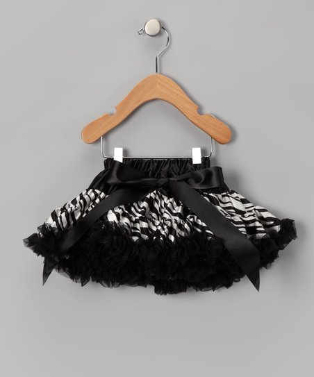 Black & White Zebra Pettiskirt - Infant, Toddler & Girls