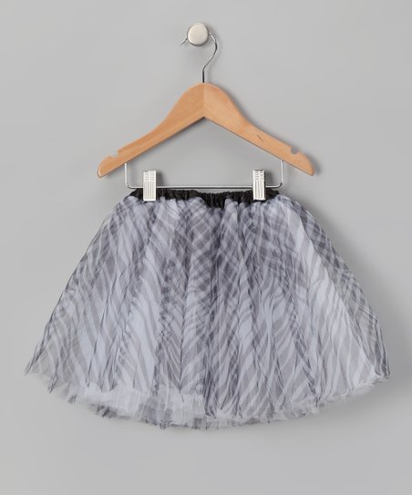 Black &amp; White Zebra Tutu