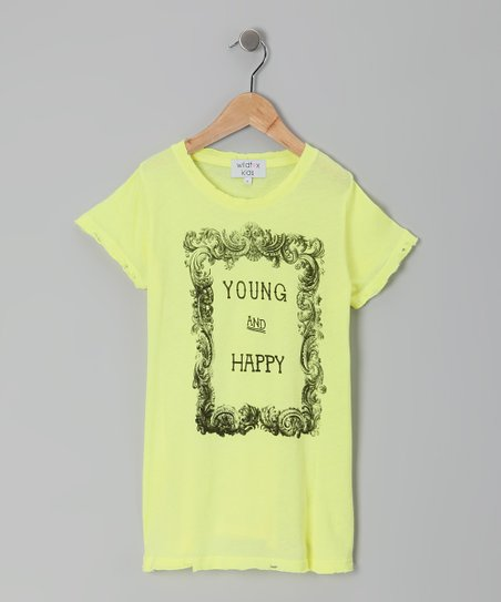 Desert Sun 'Young & Happy' Crewneck Tee - Girls