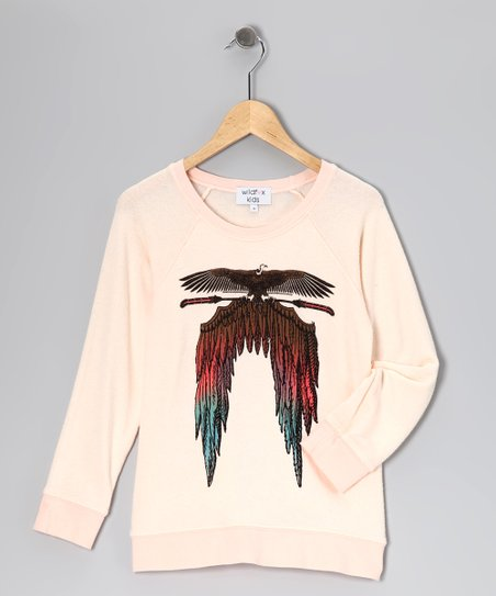Ghost Nude Feather Wings Tee