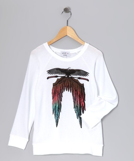 Clean White Feather Wings Tee