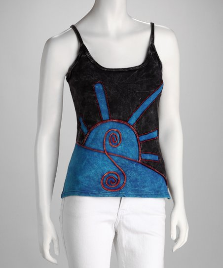 Windhorse Black &amp; Blue Camisole