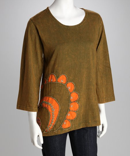 Windhorse Green Moon Tunic