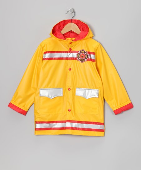 Yellow Firefighter Raincoat - Infant, Toddler & Boys