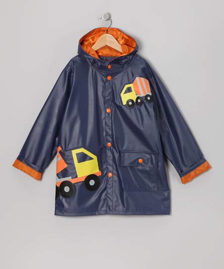 Navy Truck Raincoat - Infant, Toddler & Boys