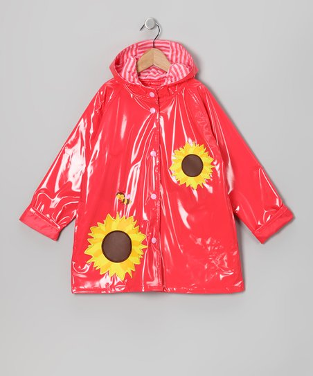 Red Sunflower Raincoat - Infant, Toddler & Girls