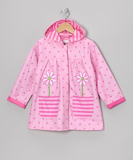 Pink Polka Dot Pocket Raincoat - Infant, Toddler &amp; Girls