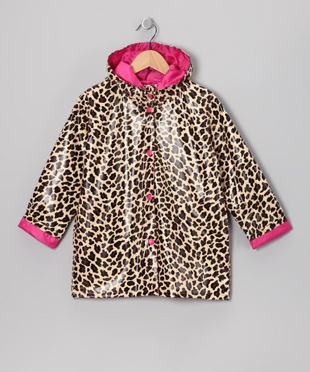 Brown Leopard Raincoat - Infant, Toddler &amp; Girls