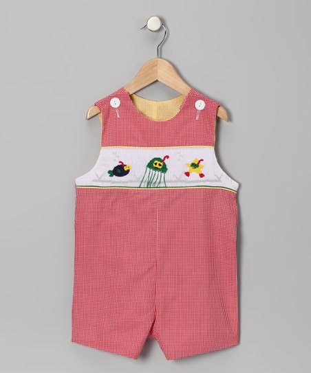 Red Gingham Scuba Buddy John Johns - Infant & Toddler
