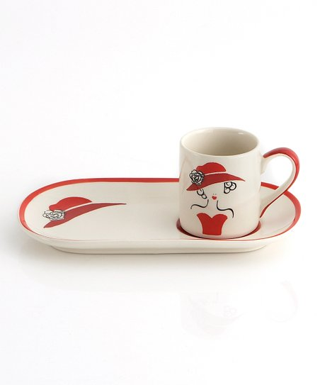 Red Espresso Plate & Mug Set