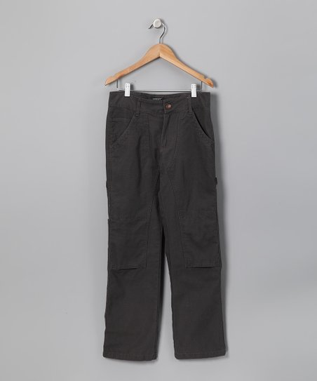 Gray Canvas Pants - Infant & Boys