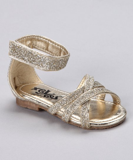 Gold Cross Sandal