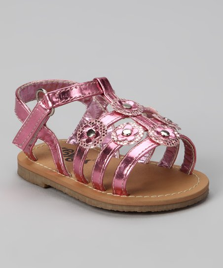Pink Sequin Flower Sandal