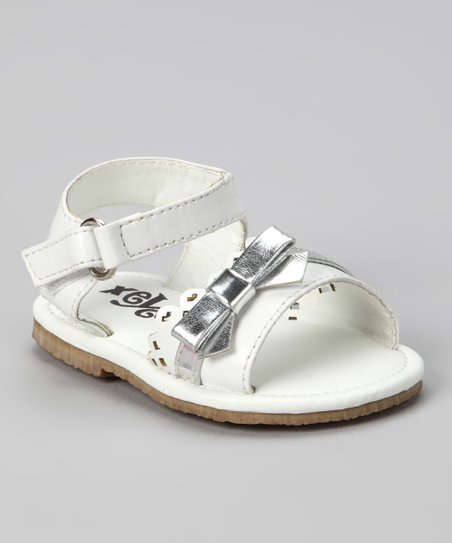 White Bow & Heart Sandal