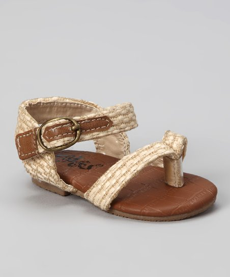 Natural Buckle Sandal