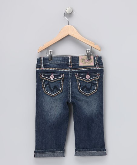 Rolled Cuff Denim Capri Pants