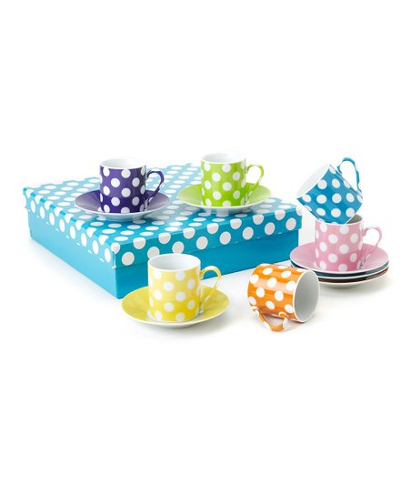 Polka Dot 2.5-Oz. Cup & Saucer Set