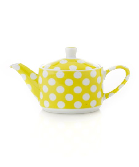 Yedi Houseware Banana Yellow Polka Dot Small Teapot