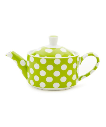Yedi Houseware Lime Green Polka Dot Small Teapot