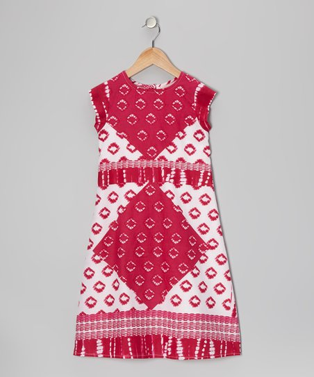 Pink Square Dress - Toddler & Girls