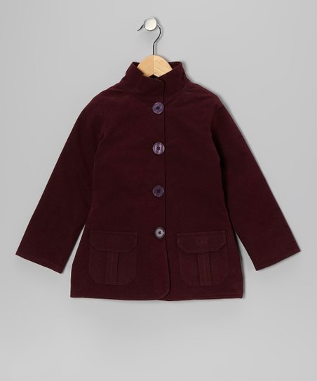 Maroon Pocket Jacket - Toddler & Girls