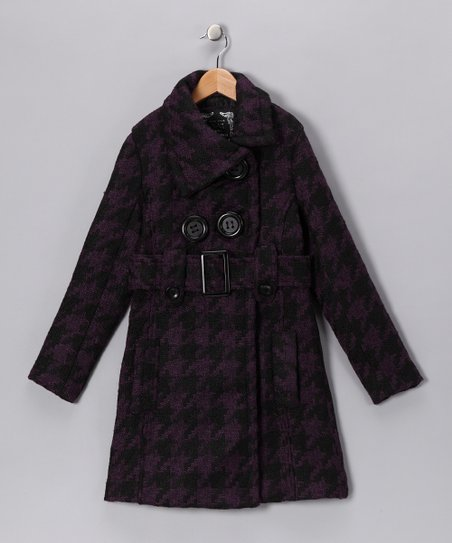 Purple Houndstooth Coat
