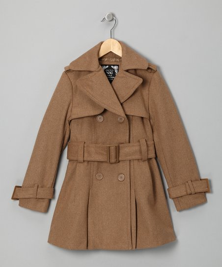 Camel Trench Coat - Girls
