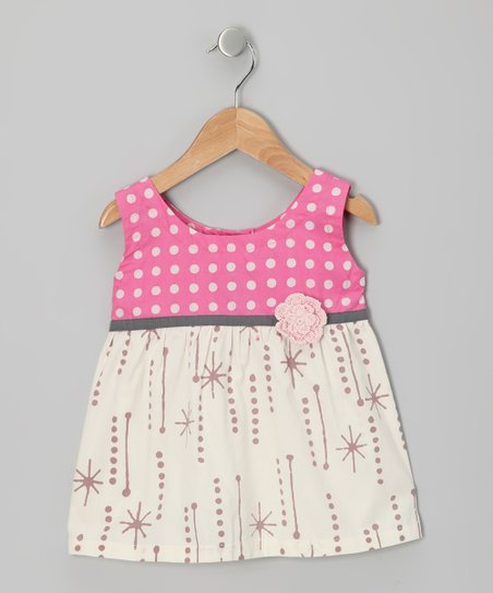 Pink Polka Dot Flower Tank - Infant, Toddler & Girls