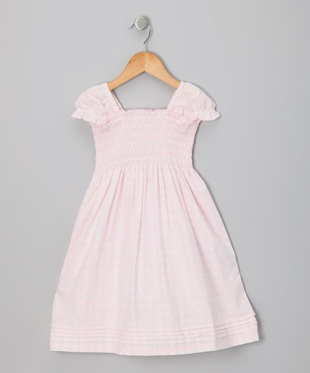 Baby Pink Polka Dot Smocked Dress - Toddler & Girls
