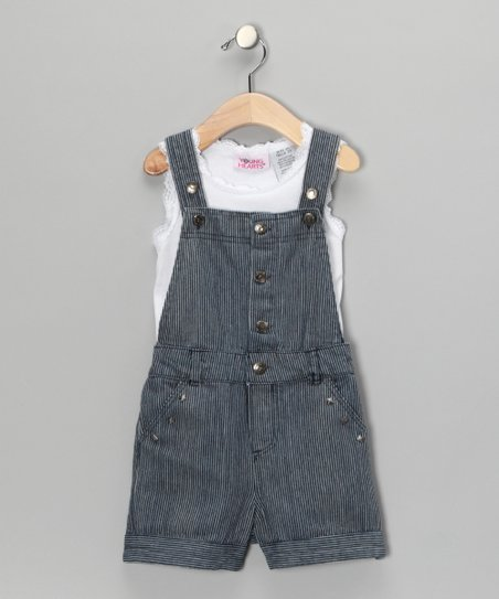 White Lace Tank &amp; Shortalls - Toddler