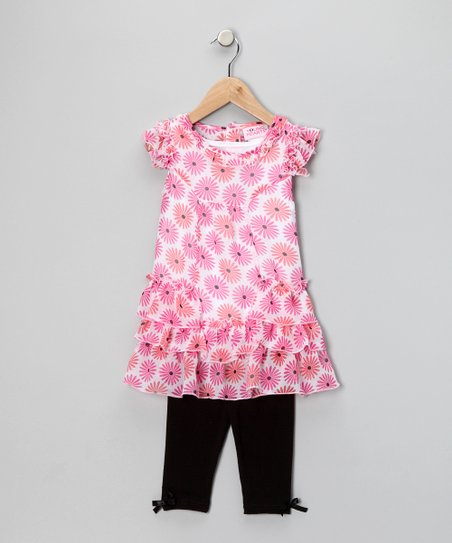 Pink Daisy Tunic &amp; Leggings - Infant &amp; Toddler