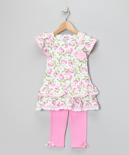 Pink Floral Tunic & Leggings - Infant