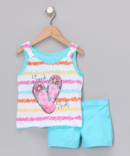 Aqua 'Sand Surf' Tank & Shorts - Infant