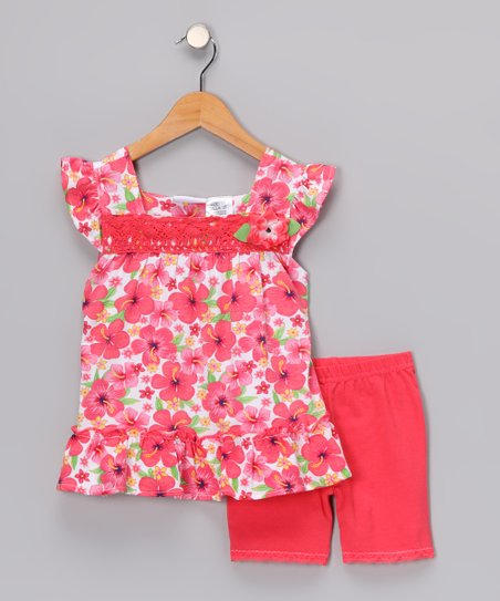 Red Rose Top & Shorts - Infant