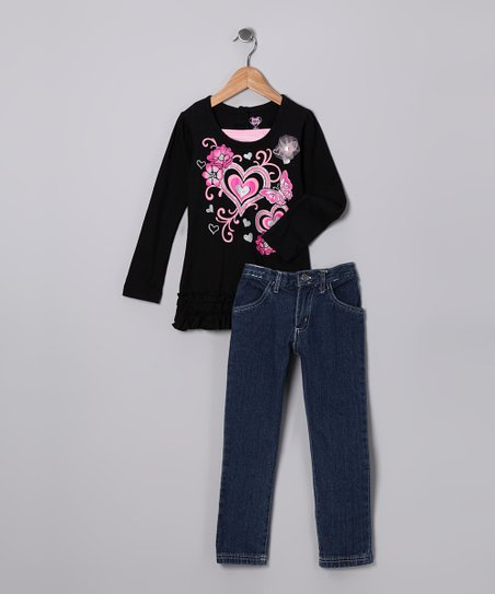 Black Heart Tunic & Jeans - Infant